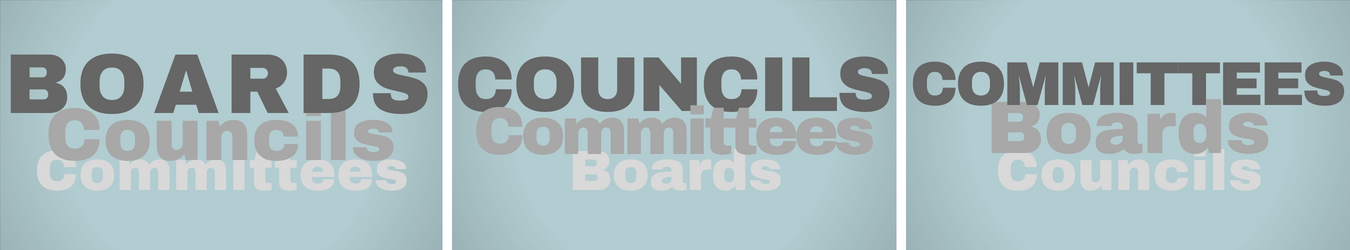 Boards, Councils & Committees